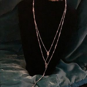 Kendra Scott silver layered necklace